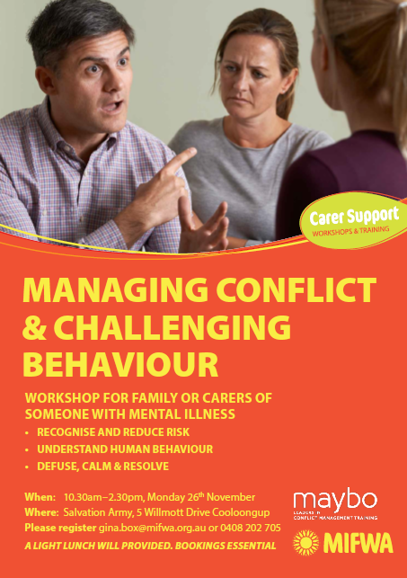 Managing Conflict & Challenging Behaviour – Cooloongup