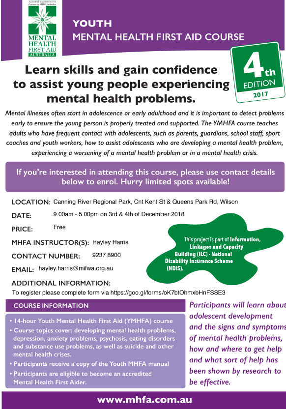 Youth Mental Health First Aid – Wilson