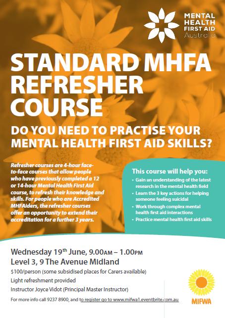 MHFA 19th June