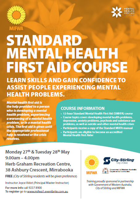 FREE Standard Mental Health First Aid – Mirrabooka [FULL]