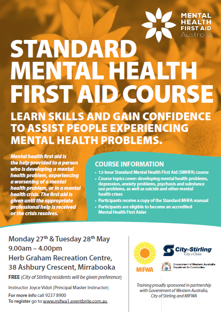 FREE Standard Mental Health First Aid – Mirrabooka