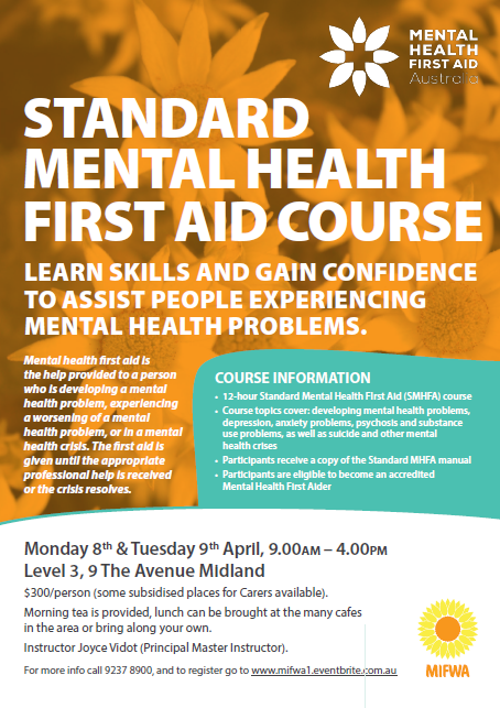 Standard Mental Health First Aid – Midland [FULL]