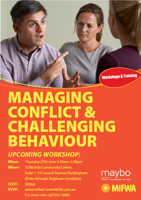 Managing Conflict & Challenging Behaviours – Rockingham
