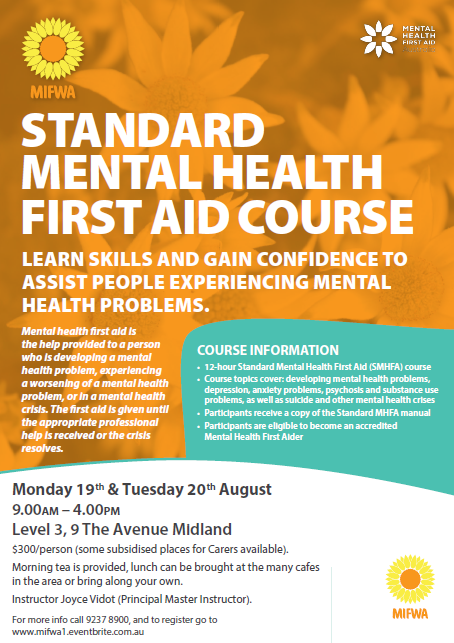 Standard Mental Health First Aid – Midland
