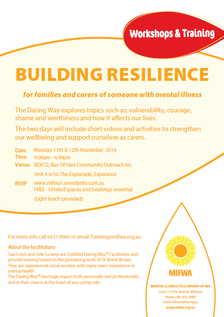FREE Building Resilience – Esperance