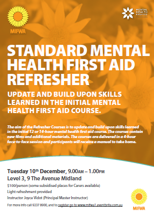 Standard Mental HEalth First Aid Refresher – Midland