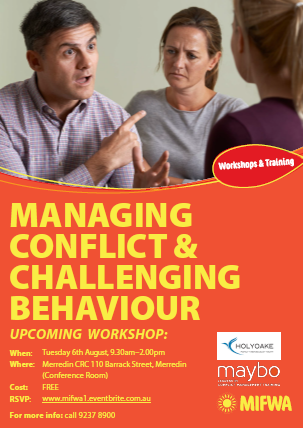 Managing Conflict & Challenging Behaviours – Merredin