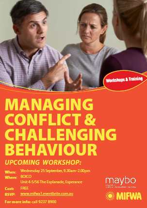 Managing Conflict & Challenging Behaviours – Esperance
