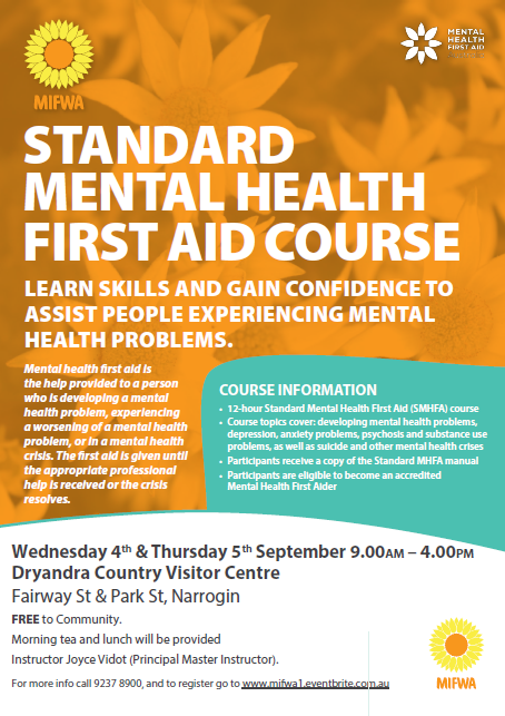 Standard Mental Health First Aid – Narrogin