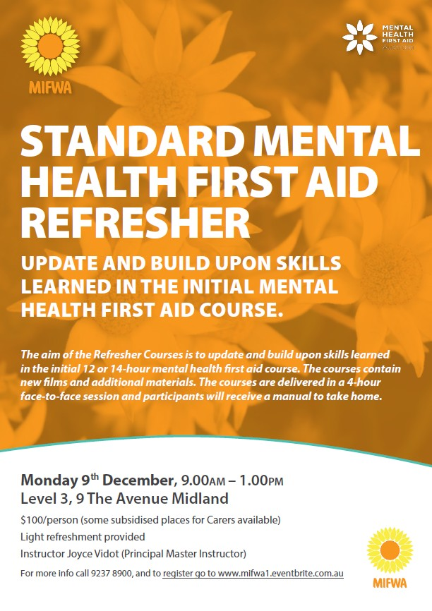 Standard Mental HEalth First Aid Refresher – Midland