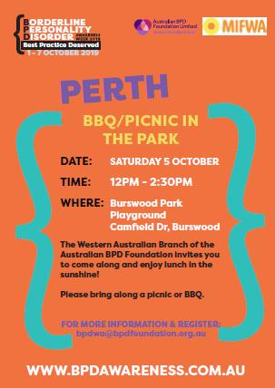 BPD Awareness Week 2019 Event – Picnic in the park