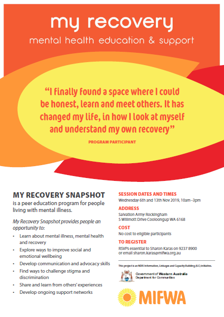 My Recovery Snapshot – Mental Health Education & Support