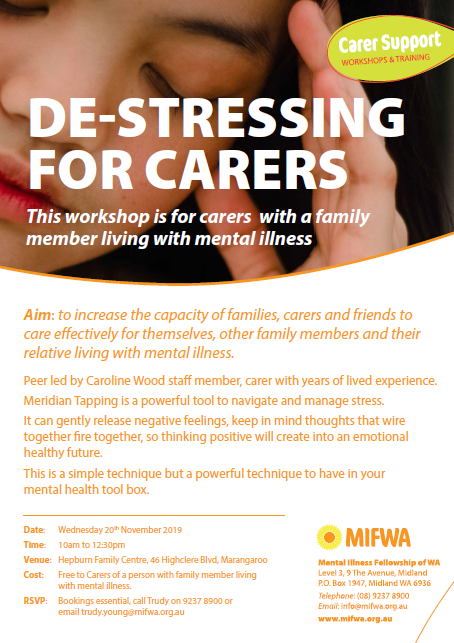 De-Stressing for Carers – Marangaroo