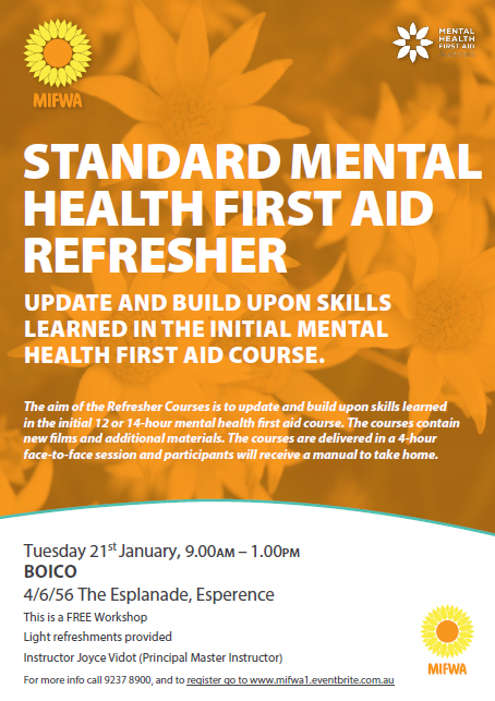 Standard Mental Health First Aid Refresher – Esperence