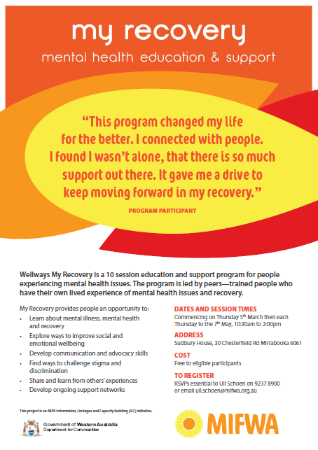 My Recovery – Mental Health Education & Support