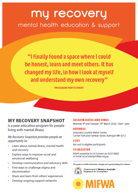 My Recovery – SNAPSHOT Mental Health Education & Support