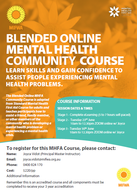 Blended Online Mental Health Community Course