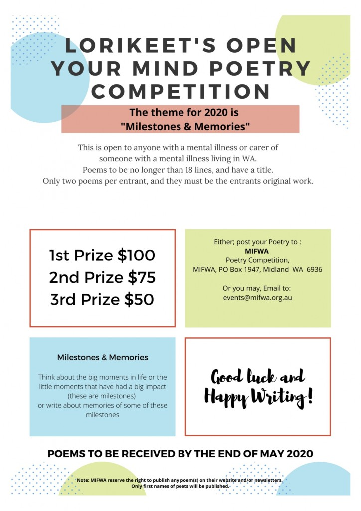 Lorikeet's Open Your Mind Poetry Competition