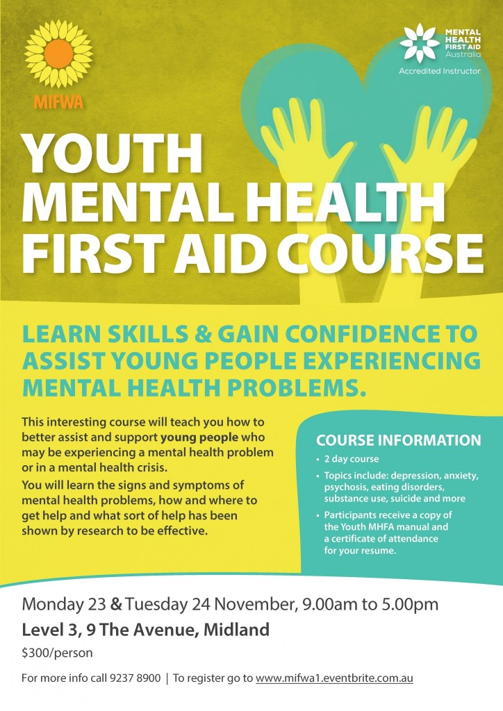 Youth Mental Health First Aid Course
