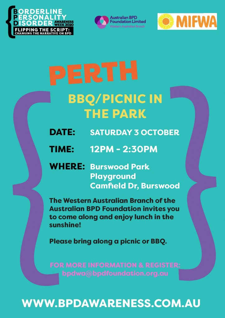 BBQ/Picnic in the Park for BPD Awareness Week 2020
