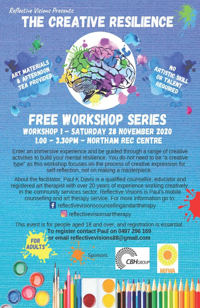The Creative Resilience Free Workshop – Northam