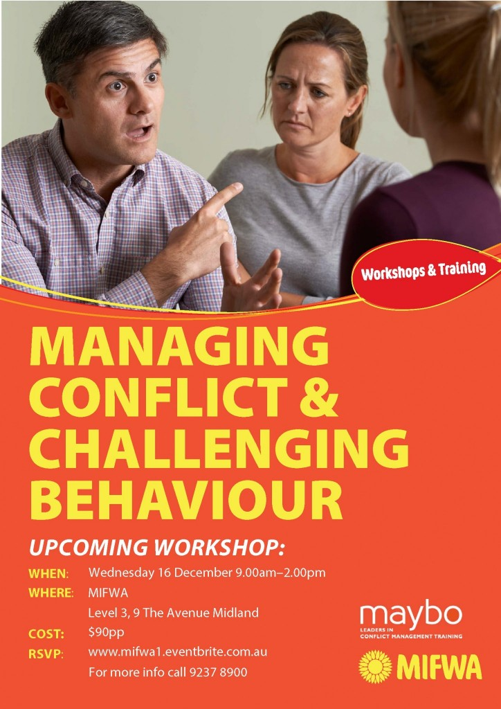 Managing Conflict & Challenging Behaviour SOLD OUT
