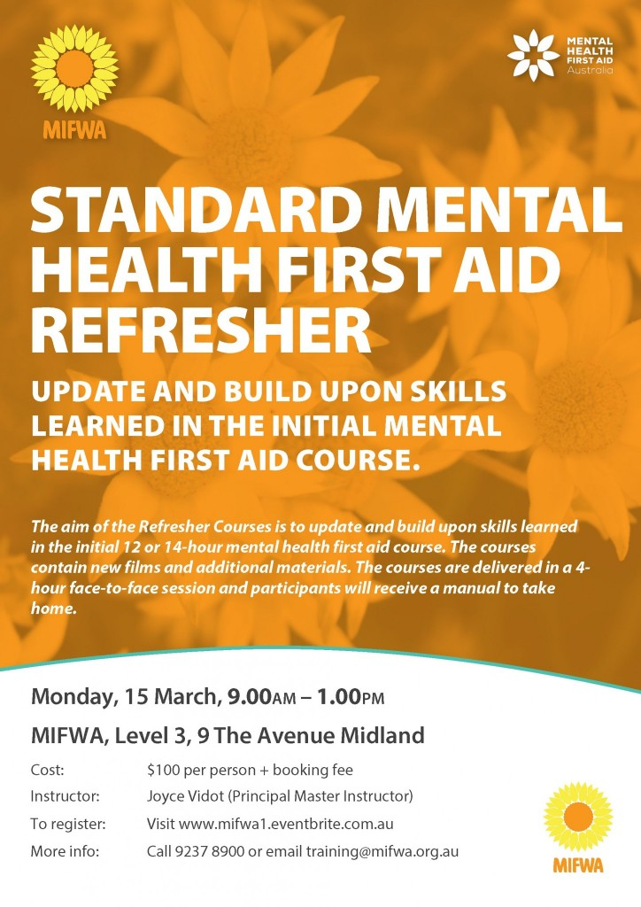 Standard Mental Health First Aid – Refresher
