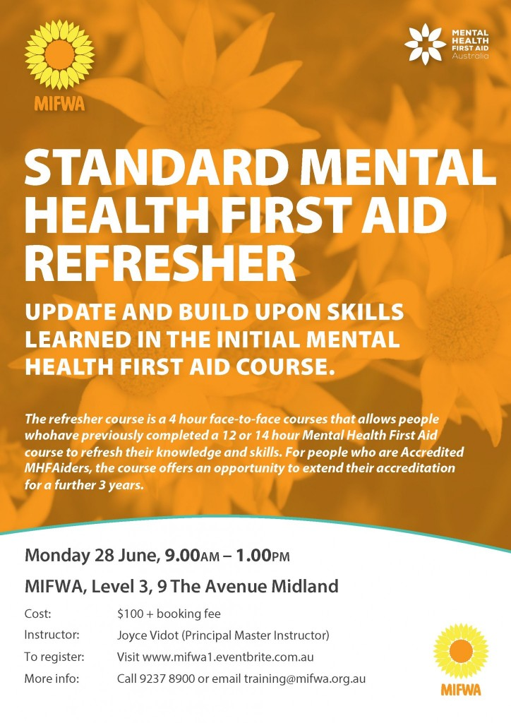 Mental Health First Aid Refresher Course