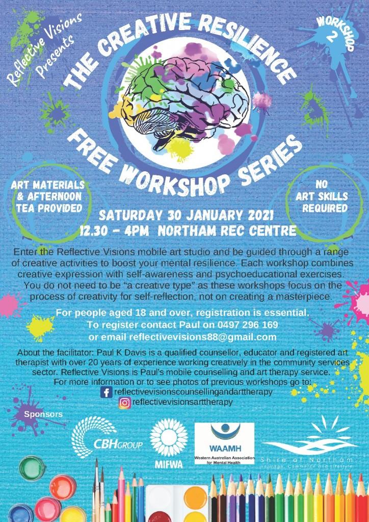 Creative Resilience Free Workshop NORTHAM