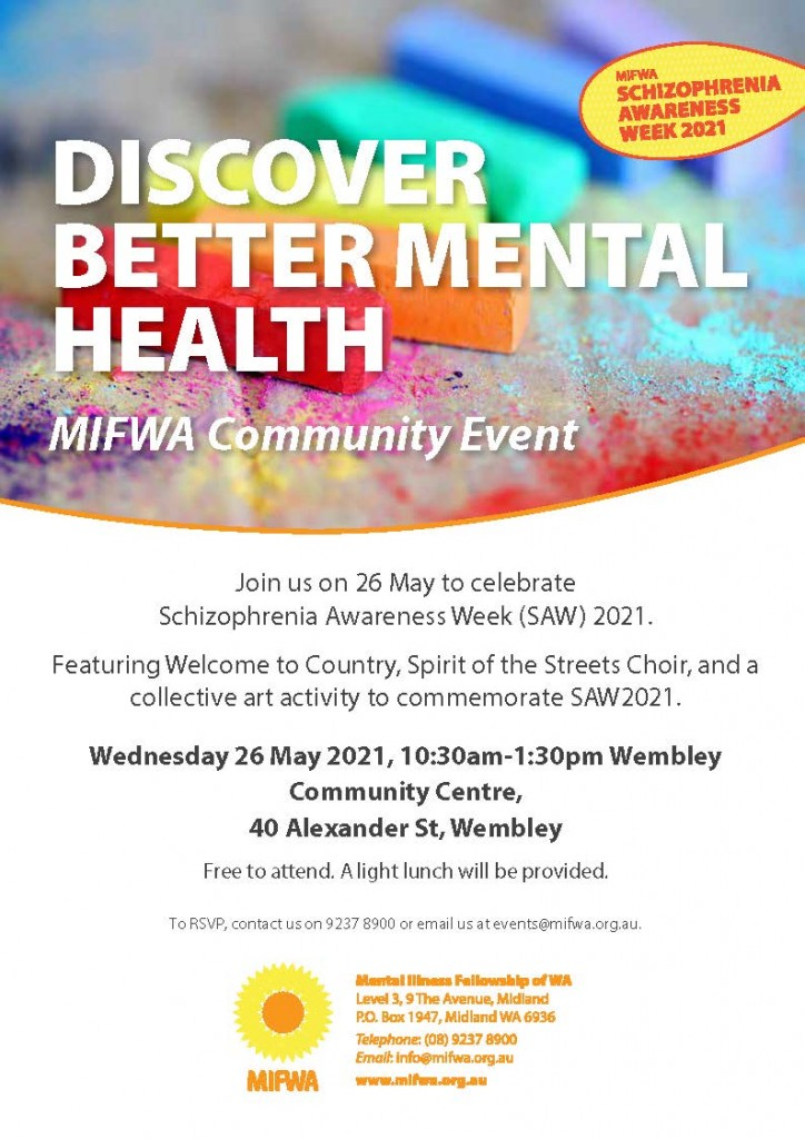 MIFWA Community Event for Schizophrenia Awareness Week 2021