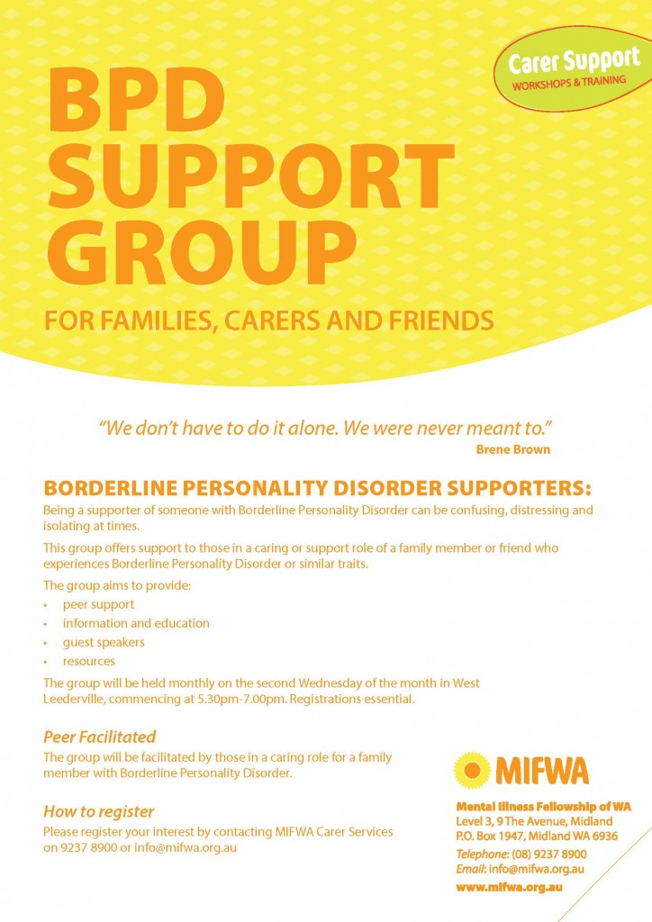 BPD Support Group for Families, Carers and Friends