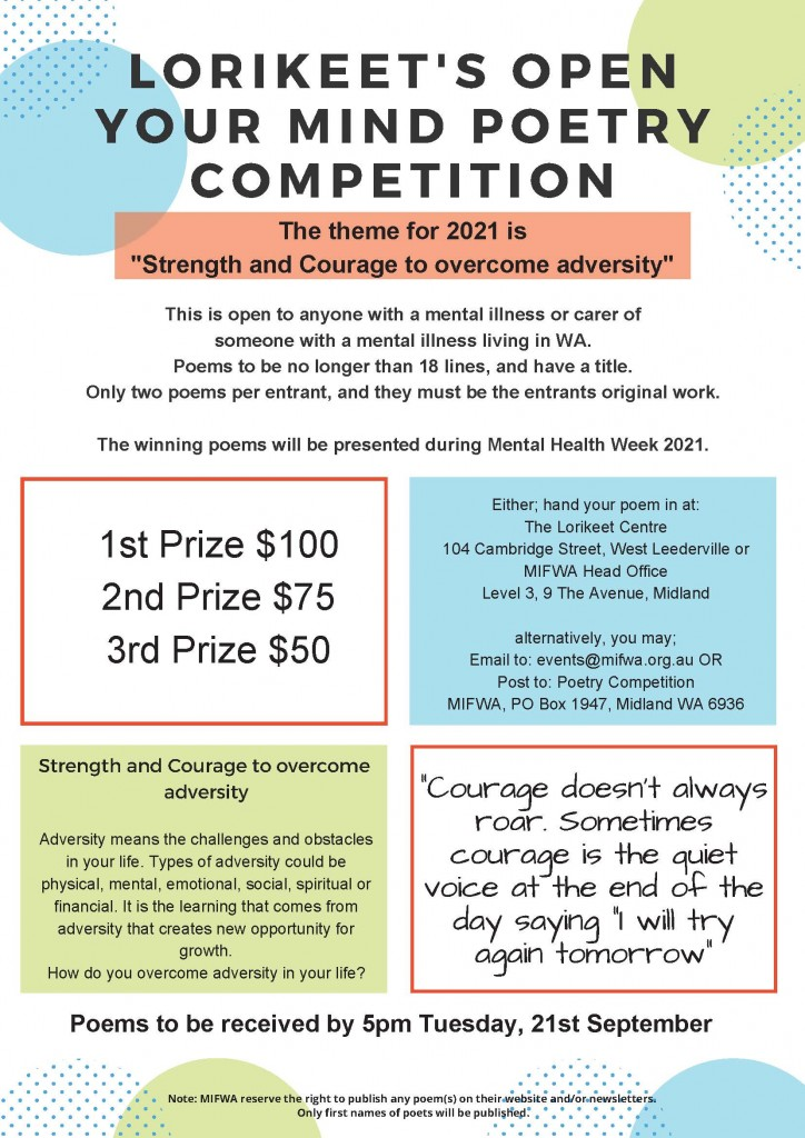 Lorikeet's Open Your Mind Poetry Competition 2021