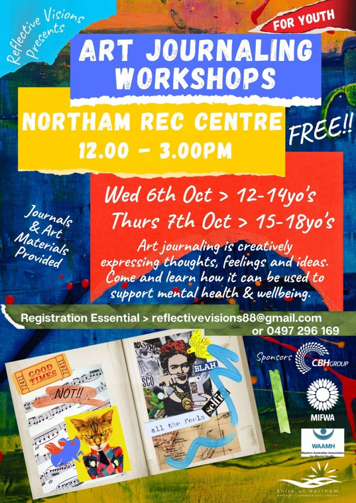 Youth Art Journaling Workshop for 12-14 year-olds NORTHAM